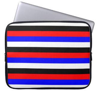 South Korea flag stripes lines colors pattern Laptop Sleeve