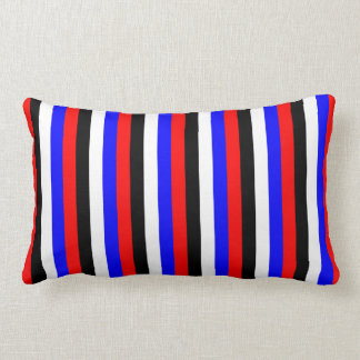 South Korea flag stripes lines colors pattern Lumbar Pillow