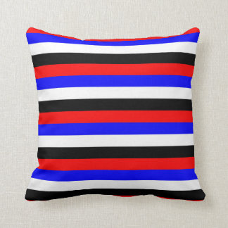 South Korea flag stripes lines colors pattern Throw Pillow