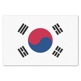 South Korea Flag Tissue Paper
