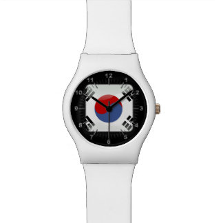 South Korea glossy flag Watch