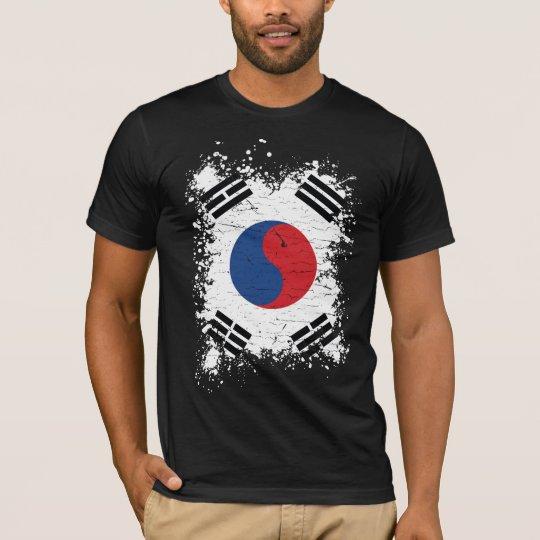South Korea Grunge Flag T-Shirt