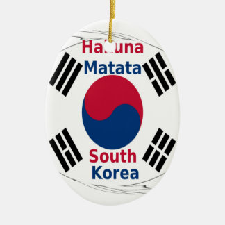 South Korea Hakuna Matata Ceramic Oval Ornament
