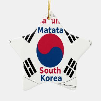 South Korea Hakuna Matata Ceramic Star Ornament