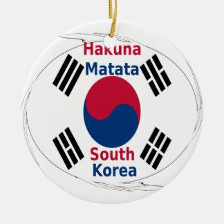 South Korea Hakuna Matata Round Ceramic Ornament