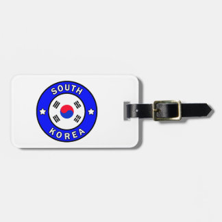 South Korea Luggage Tag