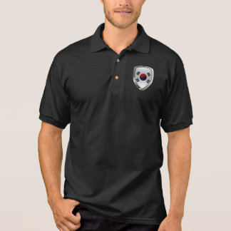 South Korea Metallic Emblem Polo Shirt