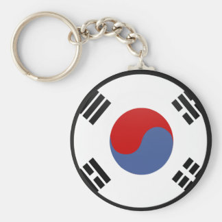 South Korea quality Flag Circle Keychain