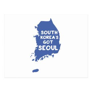 South Korea's Got Seoul Postcard