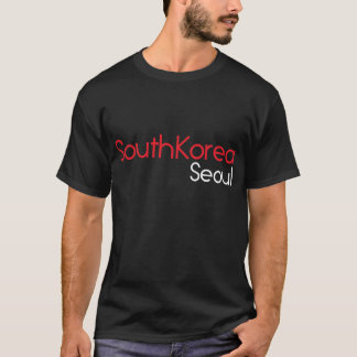 South korea seoul black t-shirt