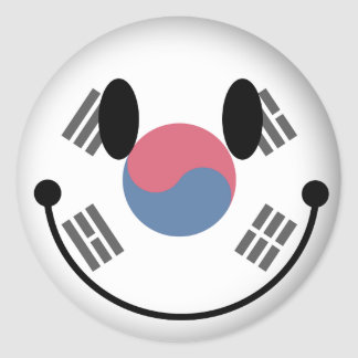 South Korea Smiley Classic Round Sticker