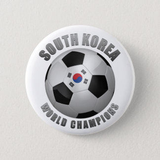 SOUTH KOREA SOCCER CHAMPIONS 2 INCH ROUND BUTTON