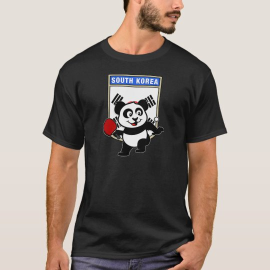South Korea Table Tennis Panda T-Shirt