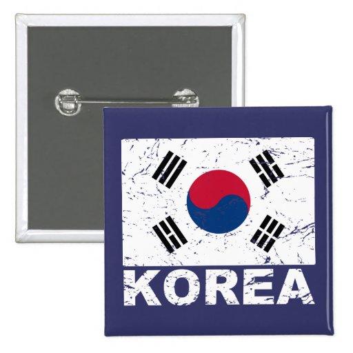 South Korea Vintage Flag Pins