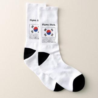 South Korean Flag and Republic of Korea with Name 1