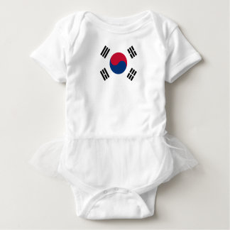 South Korean Flag Baby Bodysuit