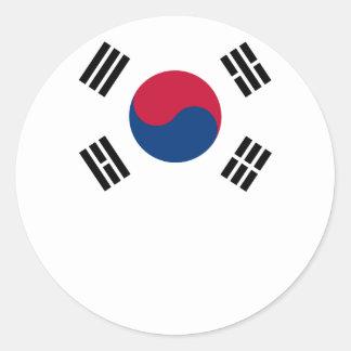 South Korean Flag Classic Round Sticker