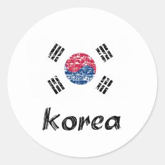 South Korean flag design Classic Round Sticker
