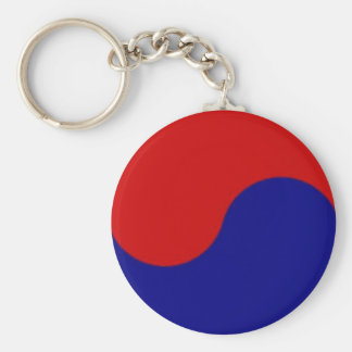 South Korean flag detail yin yang key chain