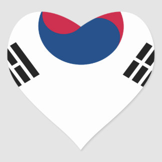 South Korean Flag Heart Sticker
