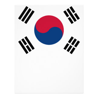 South Korean Flag Letterhead