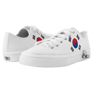 South Korean Flag Low-Top Sneakers