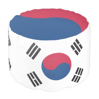 South Korean flag Pouf