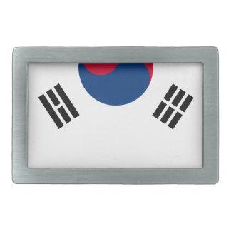 South Korean Flag Rectangular Belt Buckle