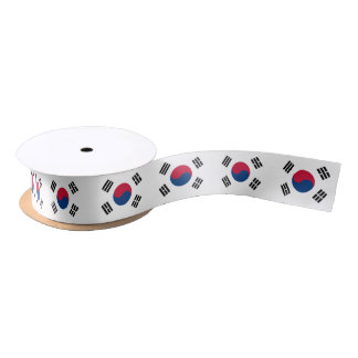 South Korean flag ribbon Satin Ribbon