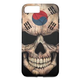South Korean Flag Skull on Black iPhone 7 Plus Case