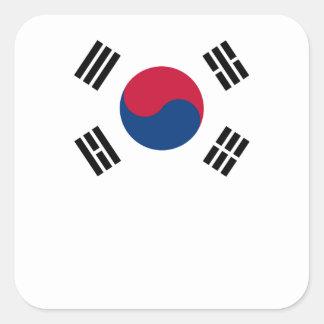 South Korean Flag Square Sticker