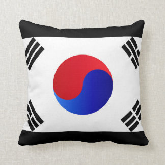South Korean Flag Throw Pillow