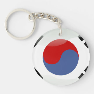 South Korean glossy flag Keychain
