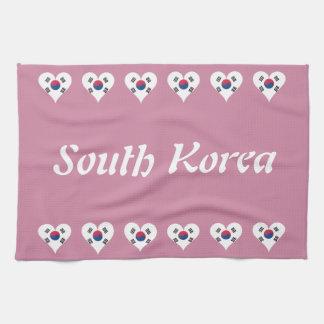 South Korean heart Kitchen Towel