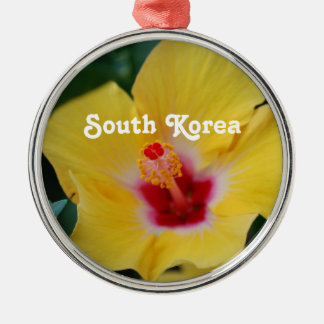 South Korean Hibiscus Christmas Ornaments