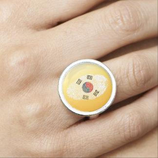 South Korean touch fingerprint flag Ring
