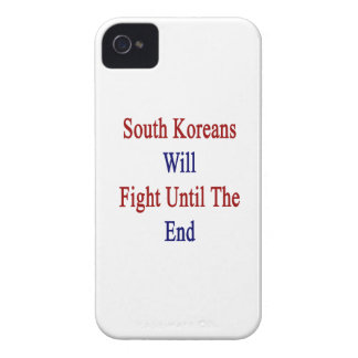 South Koreans Will Fight Until The End Case-Mate iPhone 4 Cases