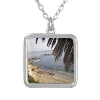 south laguna beach silver plated necklace