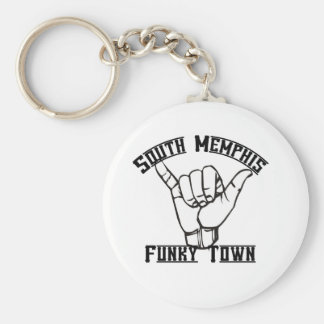 South Memphis Basic Round Button Keychain
