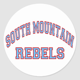 South Mountain Rebels Round Sticker