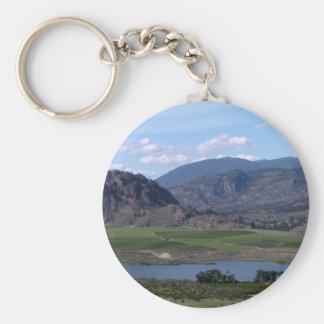 South Okanagan Valley vista Basic Round Button Keychain