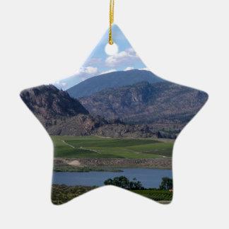 South Okanagan Valley vista Ceramic Ornament