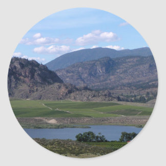 South Okanagan Valley vista Classic Round Sticker