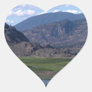 South Okanagan Valley vista Heart Sticker