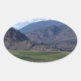 South Okanagan Valley vista Oval Sticker