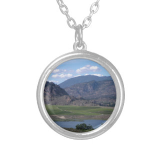 South Okanagan Valley vista Silver Plated Necklace