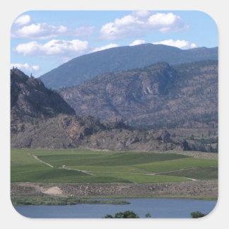 South Okanagan Valley vista Square Sticker