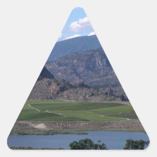 South Okanagan Valley vista Triangle Sticker