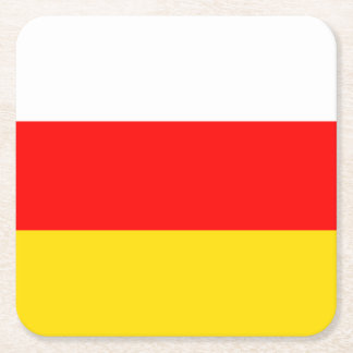 South Ossetia Flag Square Paper Coaster