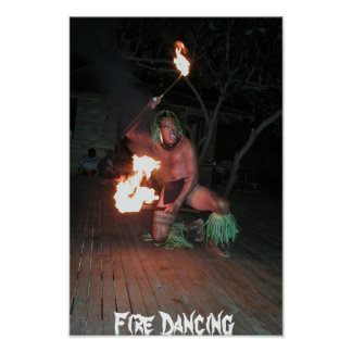 South Pacific Fire Dancer Poster